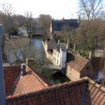 Bruges vue des toits de la brasserie visitée par le groupe